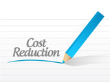 cost reduction message illustration design
