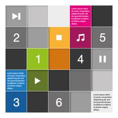 Mosaïque infographie thème musique.