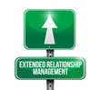 extended relationship management sign illustration