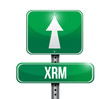 xrm road sign illustration design