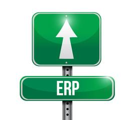 erp road sign illustration design