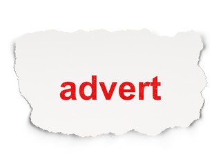 Marketing concept: Advert on Paper background