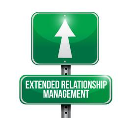 extended relationship management sign illustration
