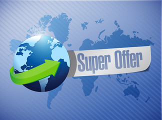 super offer globe message illustration