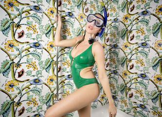 shower snorkel woman