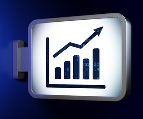 Marketing concept: Growth Graph on billboard background
