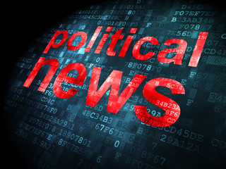 News concept: Political News on digital background