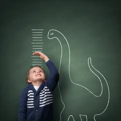 Growing up taller than a dinosaur