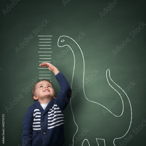 Poster Growing up taller than a dinosaur