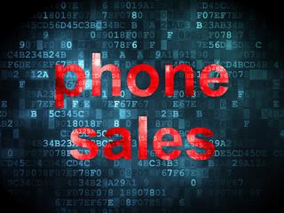 Marketing concept: Phone Sales on digital background