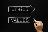 Ethics and Values Arrows Concept
