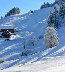 préalpes en hiver