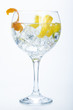 orange lemon and lime gin tonic isolated over white - 60372543