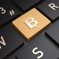 Teclado Dorado Bitcoin