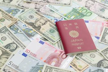 日本のパスポートと外貨