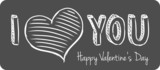 vector handwritten valentine greeting