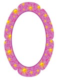 Flower photo frame in the shape of an oval