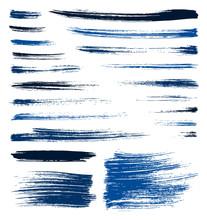 vecteur pinceau bleu coups