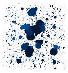 vector blue brush splatters