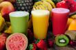 Lemon, orange and water melon juices