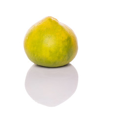 Pomelo or Shaddock fruit over white background