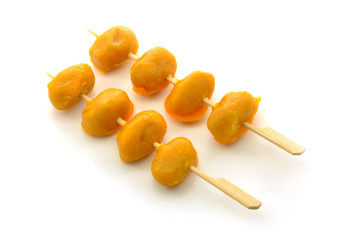 Pinched gold egg yolks