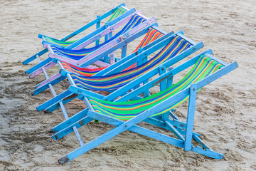 beach chairs.