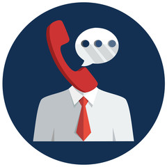 Communication man flat icon