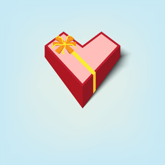 gift box heart shape
