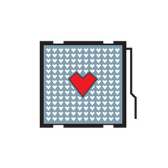 heart cpu icon design