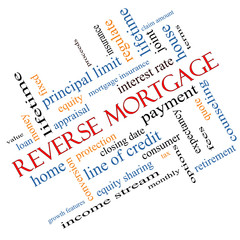 Reverse Mortgage Word Cloud Concept Angled