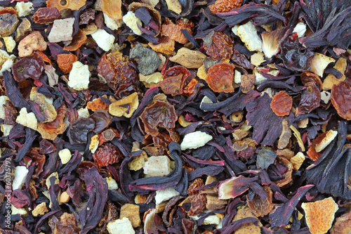 Background photo of dried Fruit tea