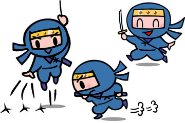 子供忍者キャラクター