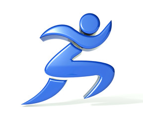 Fitness figure 3d image