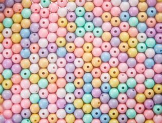 Group of colorful circle bleads as background