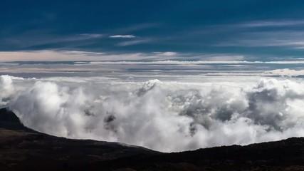 Timelapse showing Clouds at Piton De La Fournaise at Reunion