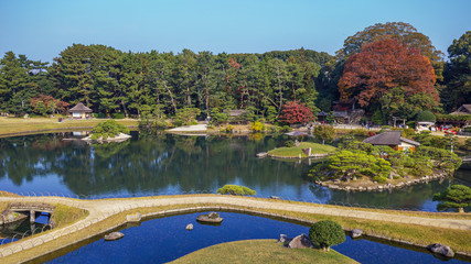 View from Yuishinzan hill at Koraku-en garden in Okayama