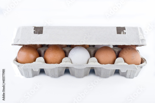 Packing of chicken eggs