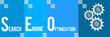 SEO Blue Four Blocks Horizontal