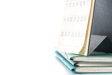 カレンダーとファイル