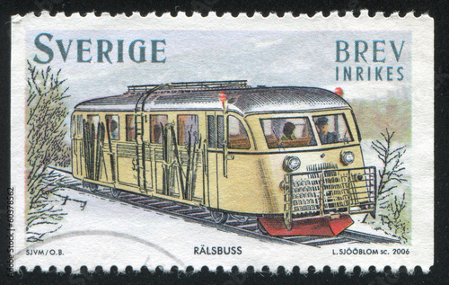 Gasoline powered rail bus