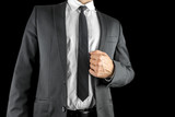Confident businessman in a suit