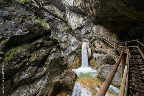 Leinwandbild Motiv Bärenschützklamm, gorge in Styria (Austria)
