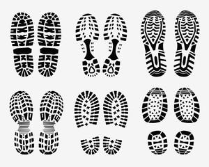 Black imprint of shoe, večtor Illustration
