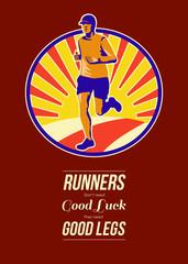 Marathon Runner Retro Poster