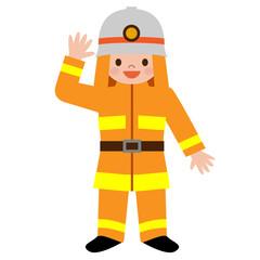 消防士の格好をした子供