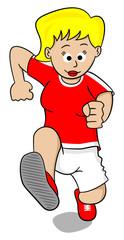 Läuferin beim Training