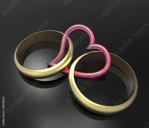 Rings and heart