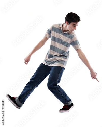 Fotobehang Dance School young man dancing