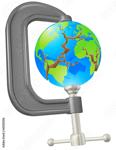 Clamp cracking globe concept